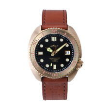 Sharkey Bronze Turtle 6309 dive watch NH35A Automatic 30 ATM sapphire leather