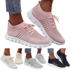 Womens Mesh Breathable Tennis Sneakers Athletic Sports Knit Socks Trainers Shoes