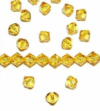 SCB596f SUNFLOWER Yellow 6mm Xilion Faceted Bicone Swarovski Crystal Beads 24/pk