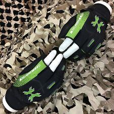 New Hk Army Hardline Half 2 Finger Paintball Gloves - Slime Green - Large