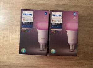 2X PHILIPS HUE E27 White & Colour Ambiance Bluetooth Bulb  *New & Sealed*