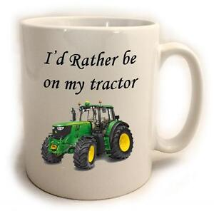 I'd rather be on my tractor Mug ideal for farmer country gift 11oz (version1)