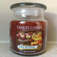 Fall Festival YANKEE CANDLE Medium 14.5 oz Jar NEARLY FULL