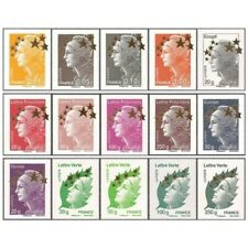 TIMBRES FRANCE  MAXI MARIANNE Série N° 4662A/4662Q Etoiles d'Or Neufs Luxe