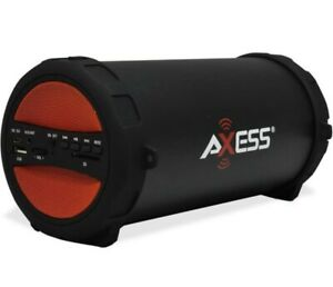 Axess 1041Loud  Red Portable Heavy Bass Bluetooth Speaker/SD Card Reader/FM/Aux