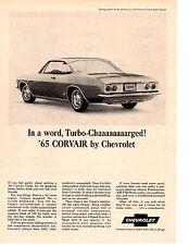 1965 CHEVROLET CORVAIR CORSA  ~ CLASSIC ORIGINAL PRINT AD
