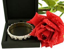 Arm-Spange Armreif bracelet 750 Gold weiss gelb 2 ct Brillanten diamonds top