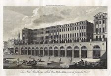 Antique engraving, The new building called the Adelphi, viewed from the River