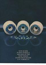 Visión Ruedas De Skate purista 95 anuncio de Thrasher Magazine 1990 a4 Cartel