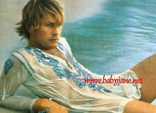 004 HELMUT BERGER SEXY WET REVEALING COLOR PHOTO AT BEACH
