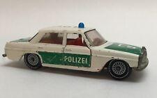 Vintage Siku # V309 Mercedes 250 White Green Police Car W. Germany S1
