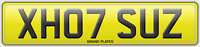 XH07 SUZ REGISTRATION SUE'S NUMBER PLATE X HOT SUZY REG ASSIGNED 4U SUSAN UK REG