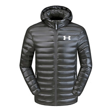 Men's Under Armour Down Jacket Winter Thick Coat Hooded Warm Puffer Overcoat