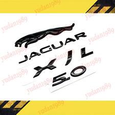 4pc Glossy Black Set Jaguar Logoxjl50 Emblem Rear Badge Decal Xf Xj Xjr Xjs Fits Jaguar