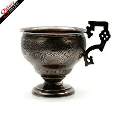 Antique Imperial Russian 88 Silver 84 Kovsh Charka Tea Cup Holder Beaker Slavic