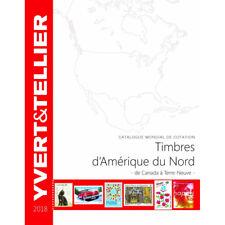 Catalogue Yvert et Tellier de cotation timbres d'Amérique du nord Canada à Terre