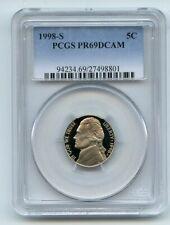 1998 S 5C Jefferson Nickel Proof PCGS PR69DCAM