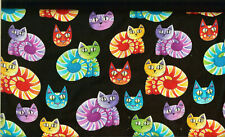"RARE! EXOTIC CATS ON BLACK - BTFQ -18""X22"""