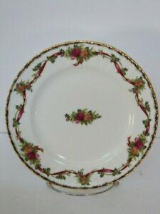1996 Royal Albert Old Country Roses England HOLIDAY RIBBONS Salad Plates Set (4)