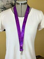 "Glittery Purple 42"" Lanyard - Smooth!!!! Brand New HANDMADE"