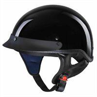 DOT Open Face Motorcycle Half Helmet Chopper Cruiser Bike Head Cap Size S M L XL