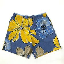 SPEEDO Swim Trunks Men's S Waist Hawaiian Floral Mesh Lined Loose Fit Shorts VTG