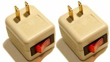 2 Pk x Single Outlet Wall Tap Adapter With Lighted Switch Power On/Off Control