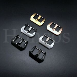 16-26 MM Spring Bar Pins Buckle Fits For Invicta Leather Rubber Strap Brushed