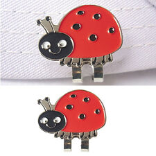 Lady Bug Golf Ball Marker Bonus Magnetic Hat Clip Alloy Cure