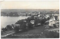 Real Photo Postcard Birds Eye View of Monticello, Wisconsin~105411