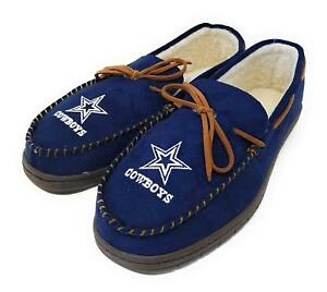 NFL Dallas Cowboys Men's Colored Moccasin Hard Slippers-New
