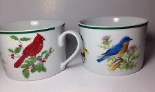 National wildlife federation Songbirds birds coffee mug teacup set 2  bluebird