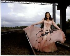 LORETTA LYNN Signed Autographed RAILROAD TRACKS Photo