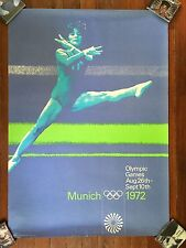 Original vintage poster OLYMPIC GAMES MUNICH Gymnastics 1972 Large Size 33 X 46