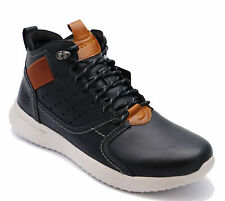 MENS SKECHERS DELSON VENEGO MEMORY FOAM LEATHER CASUAL BOOTS SHOES UK 8-10