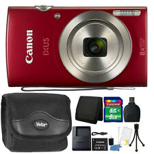 Canon PowerShot IXUS 185 / Elph 180 20MP Compact Digital Camera Red + Bundle