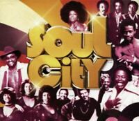 SOUL CITY various artists (3X CD, compilation, box set) very good condition,