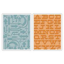 Sizzix Texture dissolvenze embossing folders FRECCE & Boardwalk Set 659489 ridotto
