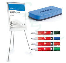Flip Chart Easel Whiteboard Kit - Includes Pens, Pads & Eraser - A1 Size