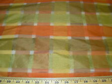 "~BTY~""BERGAMA""CHECKERED PLAID~FAUX SILK~SEMI SHEER ELEGANT DRAPERY FABRIC~"