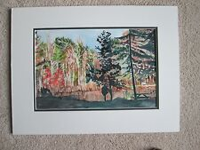 """Fall at Noble Horizons, Original Watercolor/ Double Matted/ 22"""" x 16 1/2""""/Mimi D"""