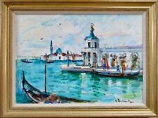 IMPRESSIONIST ITALIAN Oil Painting indistinctly signed VENICE Russian ? c.1992