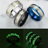 LC_ MODA fluorescente brillante anelli doppio Draghi Festa DITO GIOIELLI regali