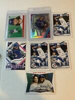 2020 Bo Bichette 7 card Rookie Lot Bowman Refractor & base ,Archives, Topps Fire