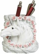Unicorn and Roses Pen Holder Penna Pentola contenitore scrivania per forniture per ufficio a casa