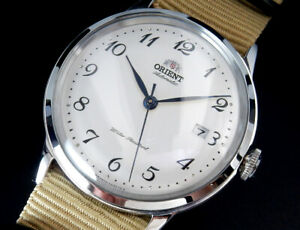 Working Orient Vintage Style Automatic Winding Mens Watch F672 Desert Band