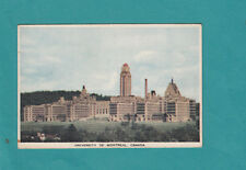 University of Montreal Canada Vintage Postcard  1943 Post Card