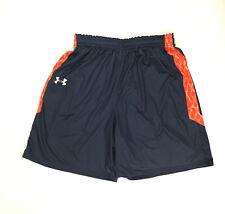 Under Armour Men's L Armourfuse Short Blue Football Basketball Training Pockets