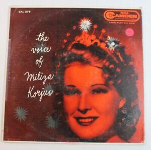The Voice of Miliza Korjus, vinyl LP, RCA Camden