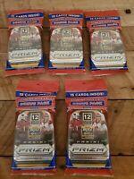 2020 Panini Prizm NFL Football Bonus Pack Lot Of 5 Packs Cello Red White Blue